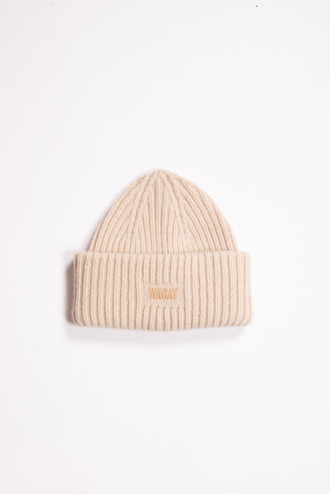 Wool Beanie Hat Off White