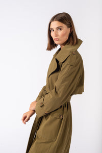 Sonora Trench Coat Savannah Green