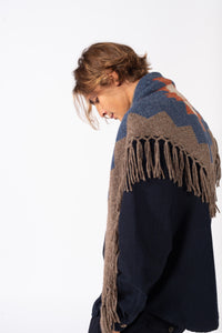 All Year Alpaca Shawl Brown Mel