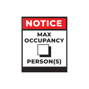 Max Occupancy Poster