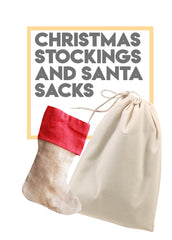 Christmas Stockings and Santa Sacks