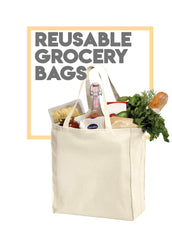 TOTE BAGS / Reusable Grocery Bags - Canvas Tote Bags