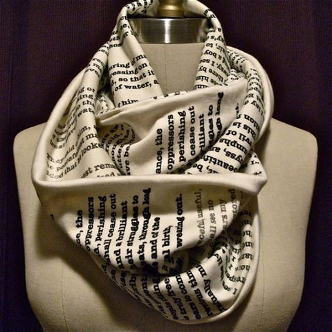 personalized book scarf