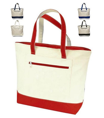 3918194c8137 Heavy Canvas Zippered Tote Bag for Women
