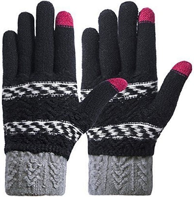 Personalise Name Kids Teenagers Adults Boys Girls Winter Touch Screen Gloves