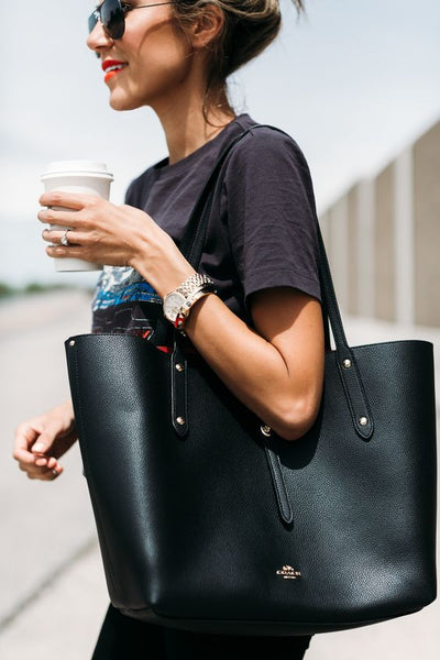 On-The-Go-Woman-Coffee-Black-Tote-Bag