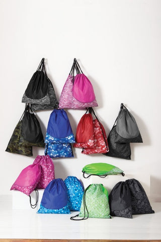colorful drawstring backpacks