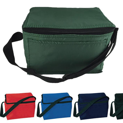 assortment of colored insulated lunch bags