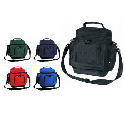 assortment of insulated lunch bags with front pockets