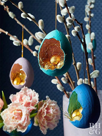 Egg shell ornaments