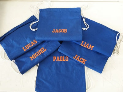 personalized blue tote bags