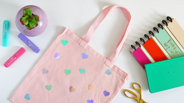 Holographic-Hearts-Printed-Tote-Bag
