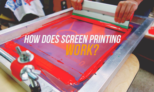 how does screen printing work
