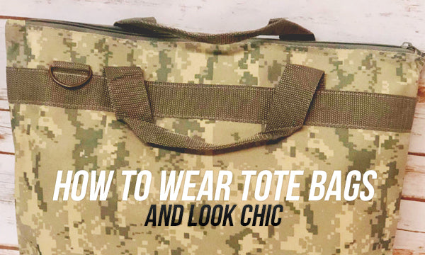 how to wear tote bags and look chic on camo tote bag