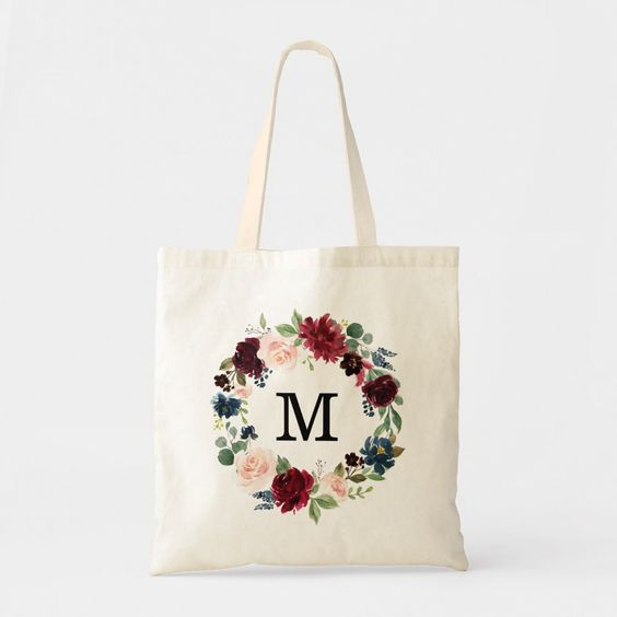 Personalized-Floral-Tote-Bag
