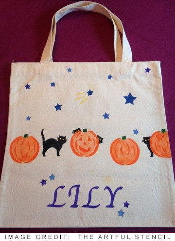 Personalized Monogrammed Halloween Bags