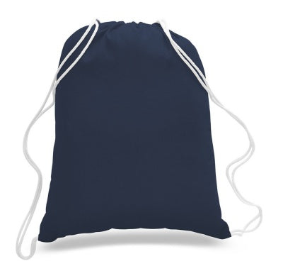 navy large wholesale drawstring backpack with cinch