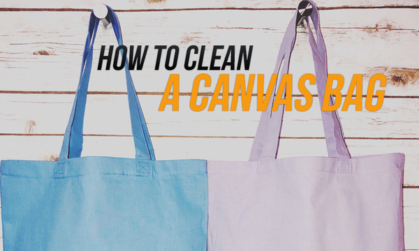 how to clean canvas bag