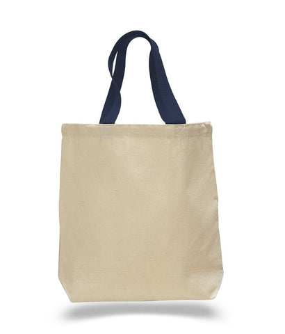 canvas tote bag with contrasting handles