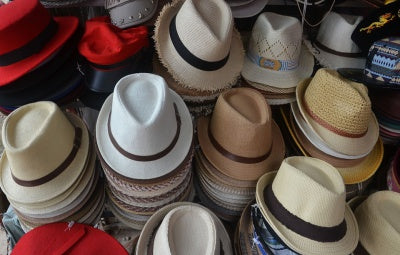 assortment of hats