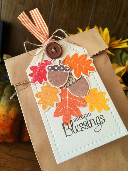 autumn blessings Thanksgiving paper goodie bag