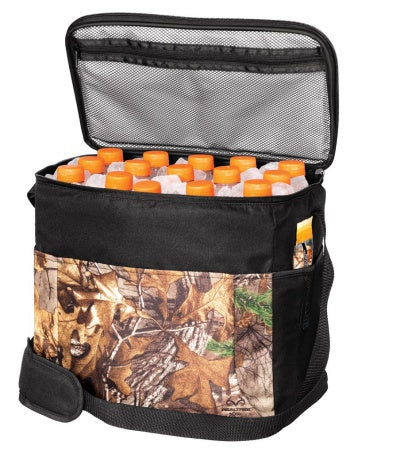 insulated lunch bag with zipper and camouflage print