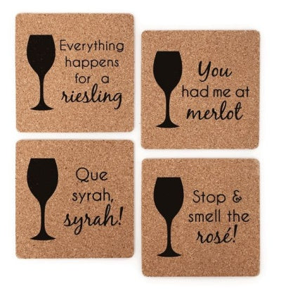 assortment of cork coasters