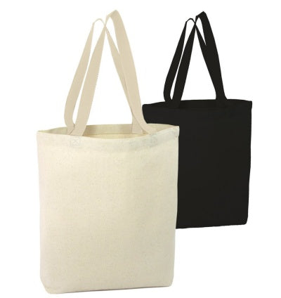 two black and white tote bags eco friendly