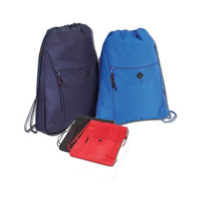 assorted drawstring backpacks in different sizes