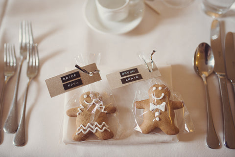ginger bread groom and bride