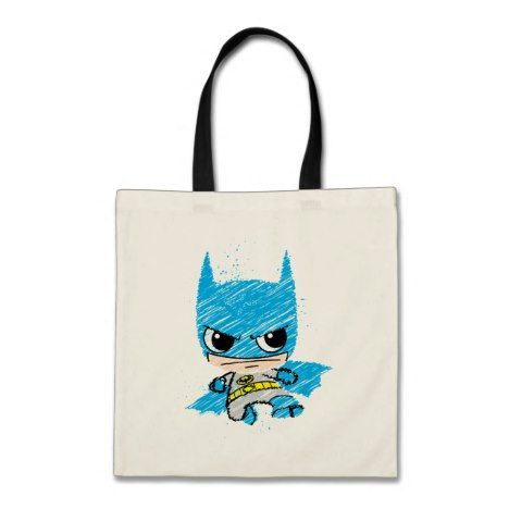mini tote bag with Batman picture