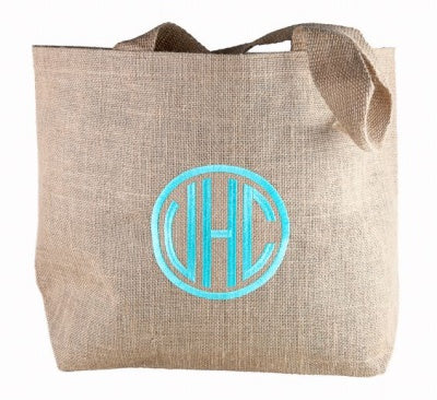 7 Monogrammed Burlap Tote Bags Ideas for Stylish Party Favors
