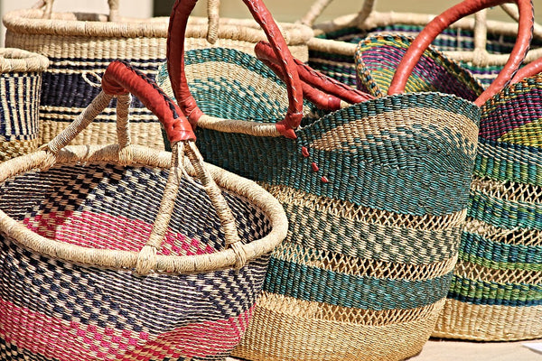 natural straw bags