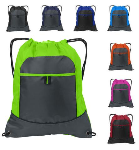7587b73fa6f1 One of the most common uses of polyester fabrics in the fashion and  accessories department is the manufacturing of polyester drawstring  backpacks – a trendy ...