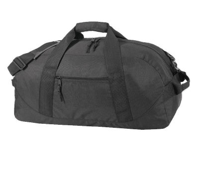 recycled duffle bag in black