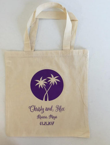 personalized wedding totebag