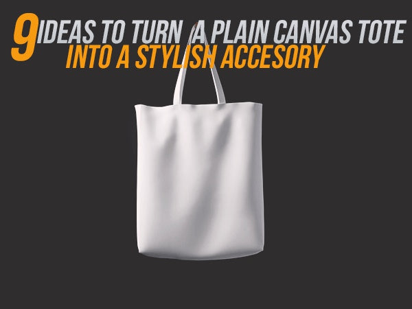 turn a plain tote bag into a stylish accessory