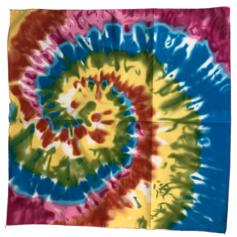 600 ct Tie Dye Pattern Cotton Bandanas - By Case