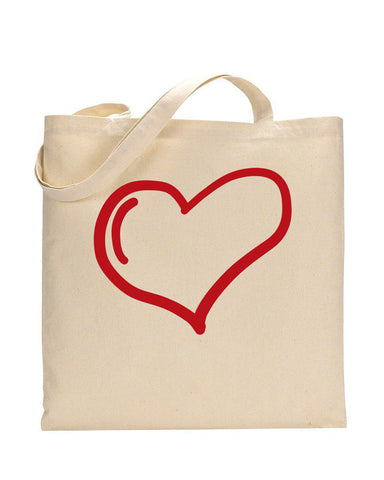 Minimal Love Bag - Valentine's Tote Bag