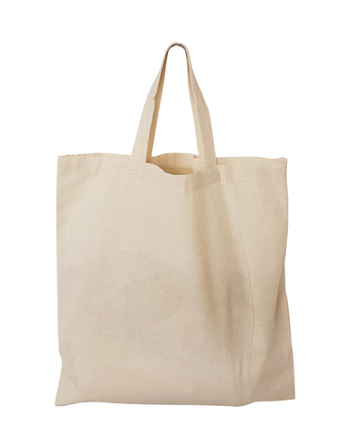 "15"" Short Handle 100% Cotton Tote Bags / Document Holder Totes"