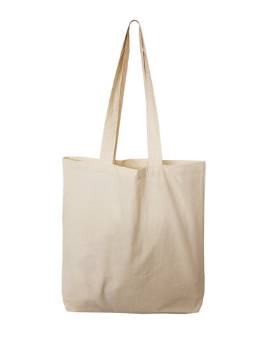 "12 ct Over the Shoulder 26"" Long Handle Cotton Tote Bags - By Dozen"