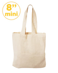 8 Inc MINI Cotton Tote Bag & Favor Gift Bags