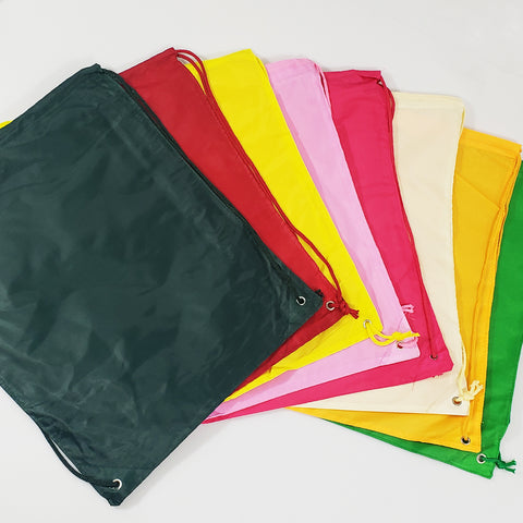 96 ct Drawstring Backpacks Sport Cinch Bags - ASSORTED COLOR PACK (CLOSEOUT)