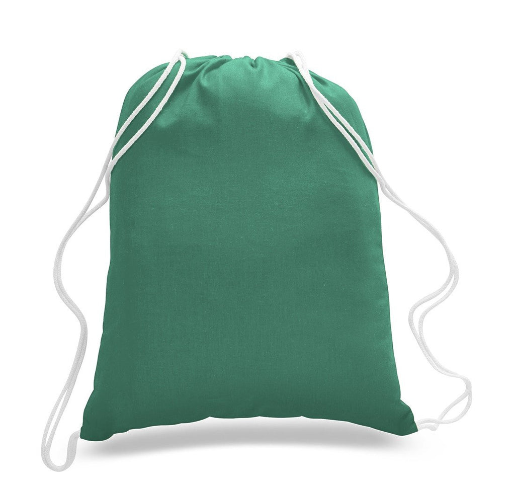 1817c7aa58 ... Affordable Kelly Green Cotton Drawstring Bags ...