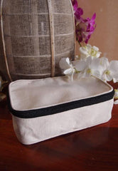 Canvas Zippered Toiletry Bag Travel Dopp Kit