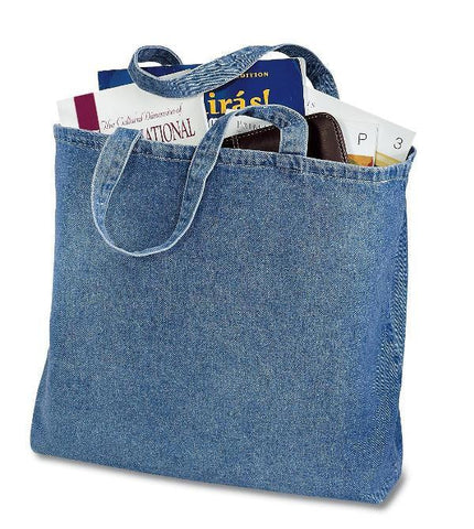 12 ct Heavy Cotton Denim Convention Tote Bag - By Dozen