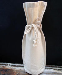Canvas Wine Bag with Drawstring for Wedding Decorations