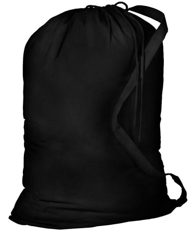 96 ct Jumbo Size Cotton Drawstring Laundry Bags Black-Natural - By Case