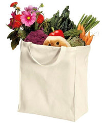 100% Organic Cotton Durable Twill Grocery Tote Bags