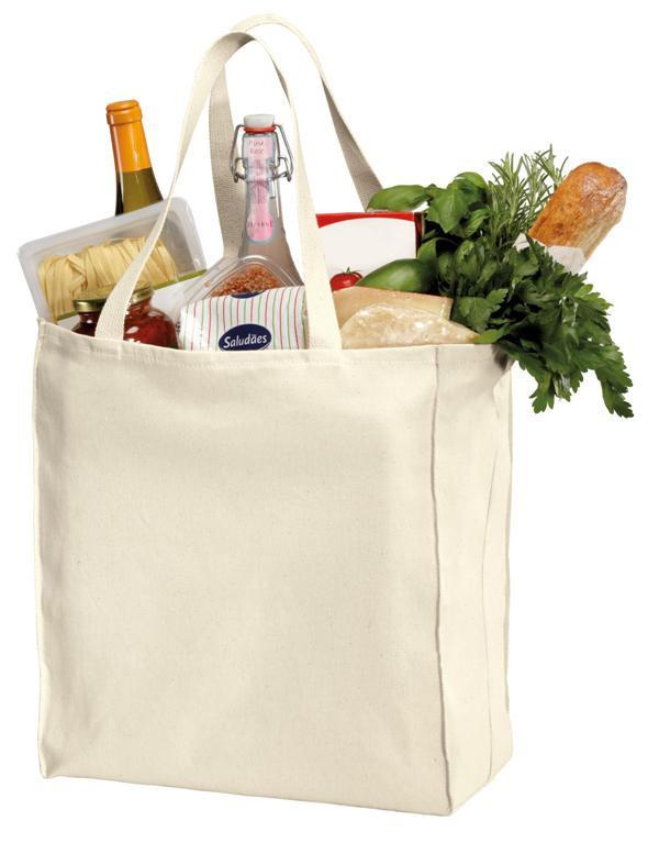 3e9896be9df5 Over-the-Shoulder Cotton Twill Grocery Tote Bag - TF280